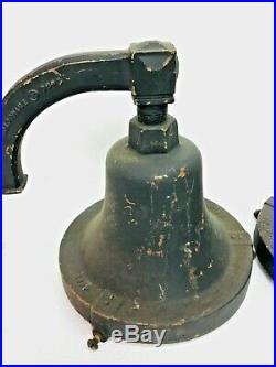 Pair Of Holophane Light Fixtures Cast Iron Sconce Wall Mount, Gas Station Police