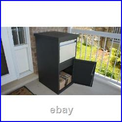 Parcel Drop Box Large Locking Mailbox Secure Package Delivery Chute Steel Locker