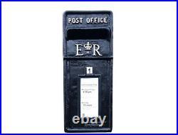 Post Box Postbox Letter Box Cast Iron Royal Mail Black Large