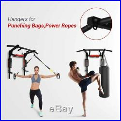 Pull Up Bar Wall Mount Power Tower Chin Up Dip Station Gym Home Fitness Workout