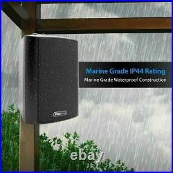 Pyle PDWR62BTBK Wall Mount Waterproof & Bluetooth Speakers, 6.5 Indoor/Outdoor
