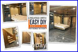 Queen-Size DIY Murphy Bed Hardware Kit Vertical Wall Mount FREE 5 Day Shipping