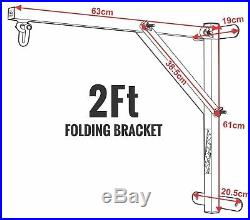 RDX Punching Bag Mount Heavy Duty Stand Wall Bracket 2FT Folding