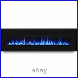 Real Flame Corretto 72 Wall Mounted Electric Fireplace in Black