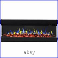 Regal Flame 60 Modern Linear Electric 3 Sided Wall Mounted Built-in Recessed