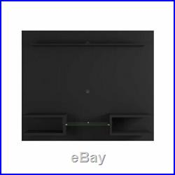 Rustic Brown Entertainment Center Floating Wall Unit Mount Media TV Stand 50
