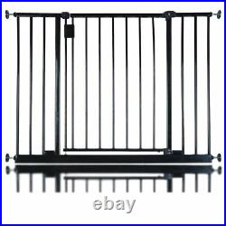 Safetots Extra Wide Hallway Baby Stair Safety Gate Pressure Fit 97-152.6cm Black