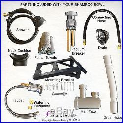 Salon Shampoo Bowl CERAMIC Tilting Wall Mounted Beauty Salon Sink TLC-B07WT