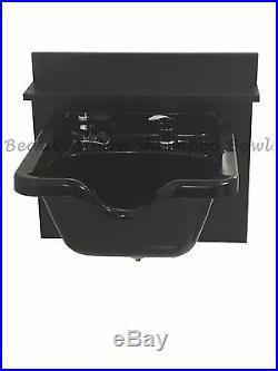 Shampoo Bowl Sink Cabinet Square Wall Mounted ABS Plastic TLC-B11-KSGT-BC16