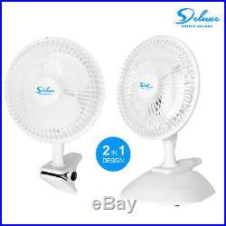 Simple Deluxe ETL Certified Clip On Fan OR Wall Mount Oscillate Digital Fan
