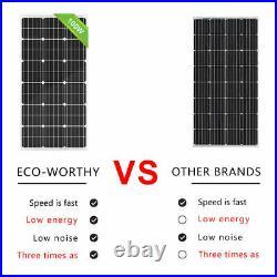 Solar Panel Radiator Cooling Fan&Mounting Kit Push Pull Slim For RV/Factory Air