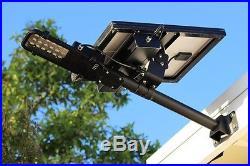 Solar Street Light Walkway Parking Driveway Light Kit 18 LEDs Wall & Pole Mount