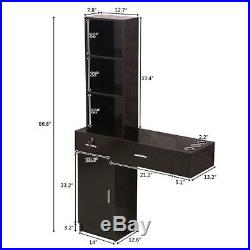 Styling Salon Station Lockable Wall Mount Hair Barber Spa Equipment Cabinet New