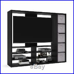 TV Entertainment Center Wall Unit Storage Bookcase With Television Mount 55 Inch