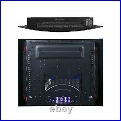 Truflame 7 Colour Led Black Glass Arched Electric Wall Mounted Fire
