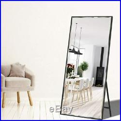Vertical Black Frame Full Length Mirror 65x23.6 Floor Standing/Wall Mounted