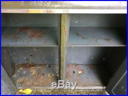 Vintage Atomic industrial Wall Mount Metal Tool Cabinet Garage Storage Cabinet