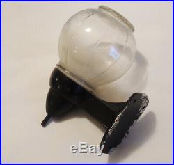 Vintage Glass Soap Dispenser With Original Black Wall Mounts