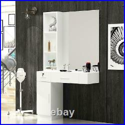 Wall Mount Barber Salon Spa Cabinet Hair Styling Station Beauty Spa Equipment