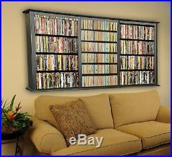 Wall Mount CD DVD Rack 1026 CD 480 DVD Storage Rack NEW