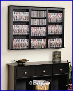 Wall Mount CD DVD Storage Rack 523 CD 213 DVD NEW