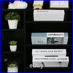 Wall Mount Computer Desk Floating Writing Table Foldable Cabinet Storage Shelves