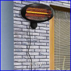 Wall Mount Electric Infrared Patio Heater Warmer Aluminium 3 Power Setting 2kW