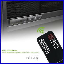 Wall Mount Insert 1400W Electric Fireplace LED Flame Heater Remote Control Timer
