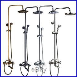 Wall Mounted Bathroom Rainfall Shower System Set Tub Faucet Handheld Sprayer