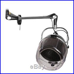 Wall Mounted Bonnet Hair Dryer with Timer Swivel Hood Caster Salon Professional