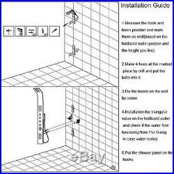 Wall Mounted Shower Panel Faucet Massage Jets Bathtub Handheld Sprayer Mixer Tap