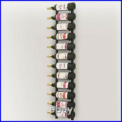 Wall Mounted Wine Rack Stand Holder Bottle Beverage Organiser Black