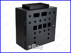 Wall-mount Enclosure for Electric Brewery Panel, Black, 16x16x8, 80A heat sink