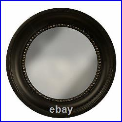 Wall-mounted Mirrors Kings Arms Round Convex Wall Mirror Black And Gold