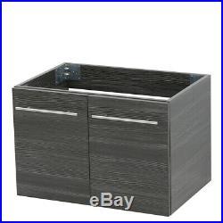 WindBay 36 wall mount floating bathroom vanity sink set, Dark Grey