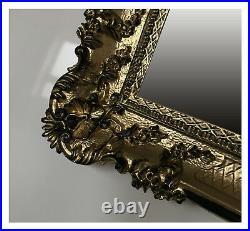 XXL Wall Mirror Baroque Mirror Rectangular Gold Black Antique 96x57