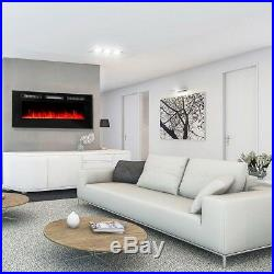 XtremepowerUS 50 1500W Electric Fireplace In-Wall Recessed and Wall Mounted Fir