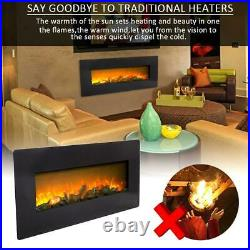 ZOKOP 1400W Wall Mount 42 Electric Fireplace Heat Heater Christmas + Remote