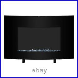 Zokop 35 Electric Fireplace Wall Mounted Freestanding Heater Crystal Flame 2021