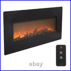 Zokop 42 1400W Wall Mounted Electric Fireplace Flame Heater Christmas LED Flame